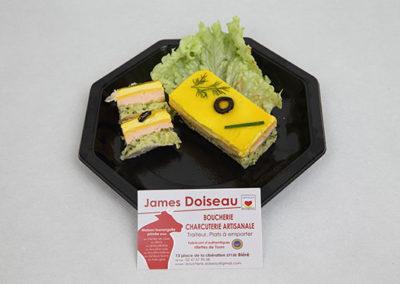 Opéra saumon courgette citron